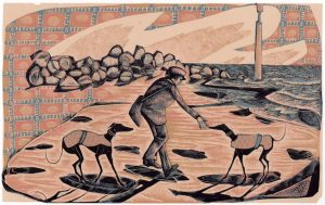 Eccles Sunrise - wood engraving