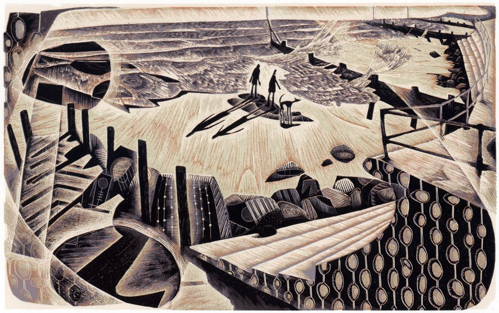 High Tide Chancers - wood engraving