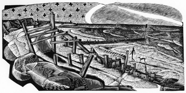 No Active Intervention - black & white edition - wood engraving