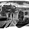 What's er names house - black & white edition - wood engraving