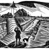 Windy Walcott - black & white edition - wood engraving