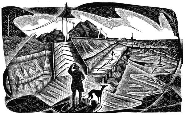 Windy Walcott - black & white edition - wood engraving