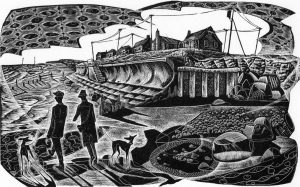 Promenade II - wood engraving