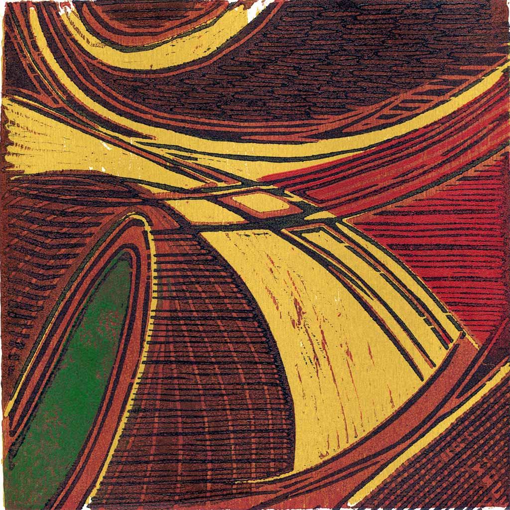 Abstract - wood cut