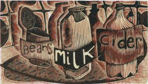 Beans Milk Cider - wood engraving