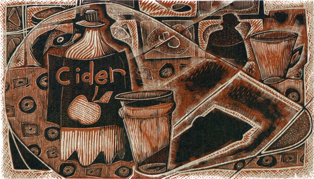 Cider - wood engraving