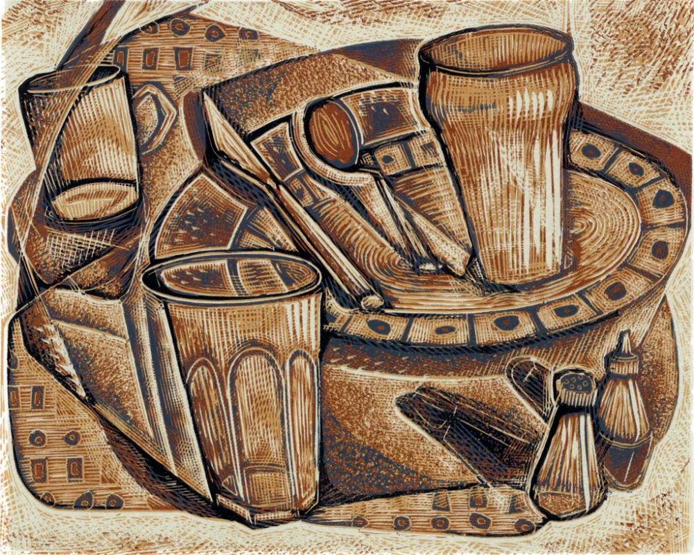 Pots - wood engraving