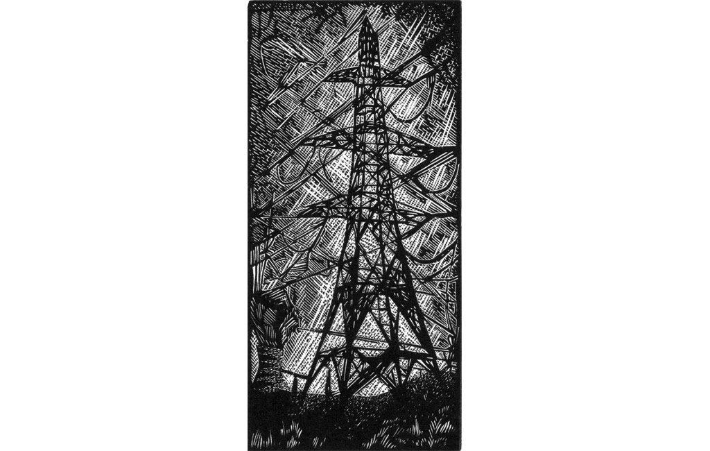 Pylon II - wood engraving