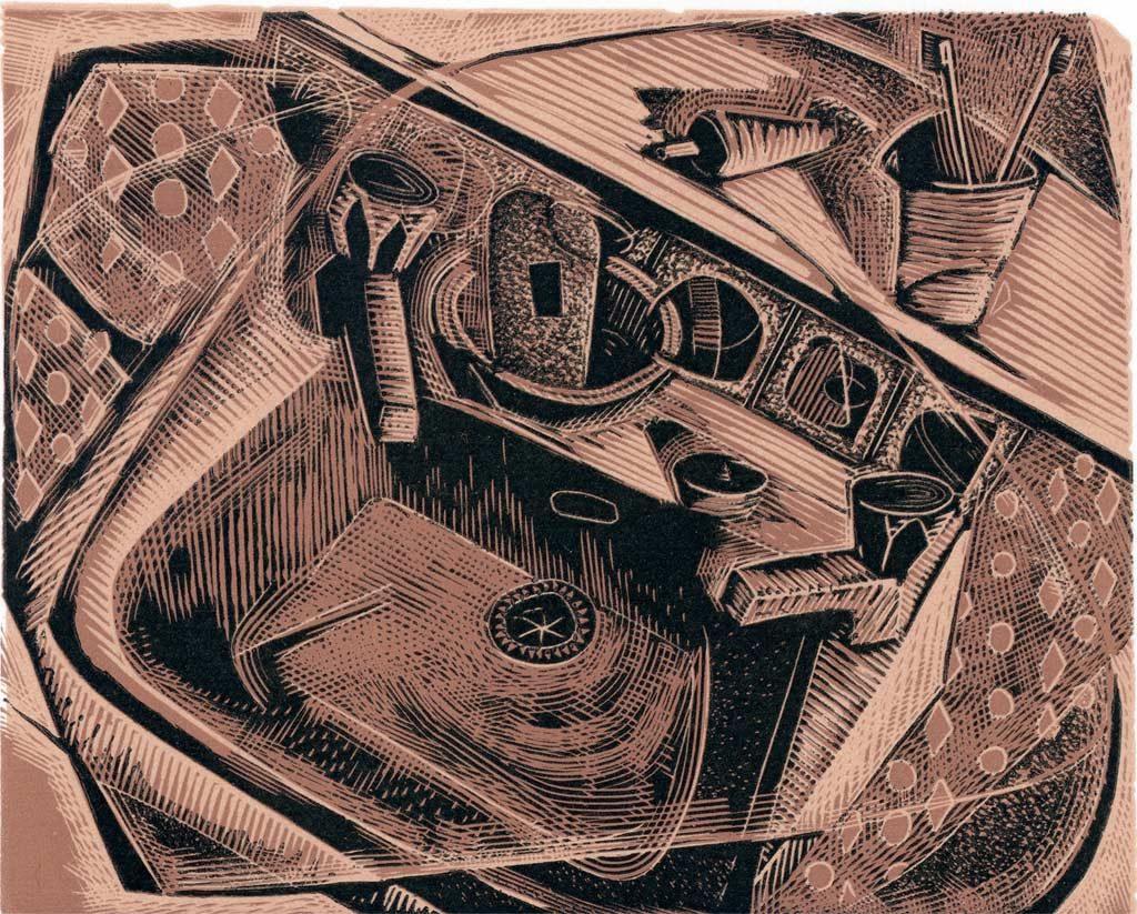 A Rented Sink - wood engraving