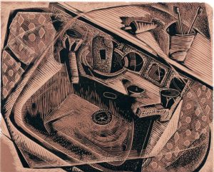 A Rented Sink - wood engraving