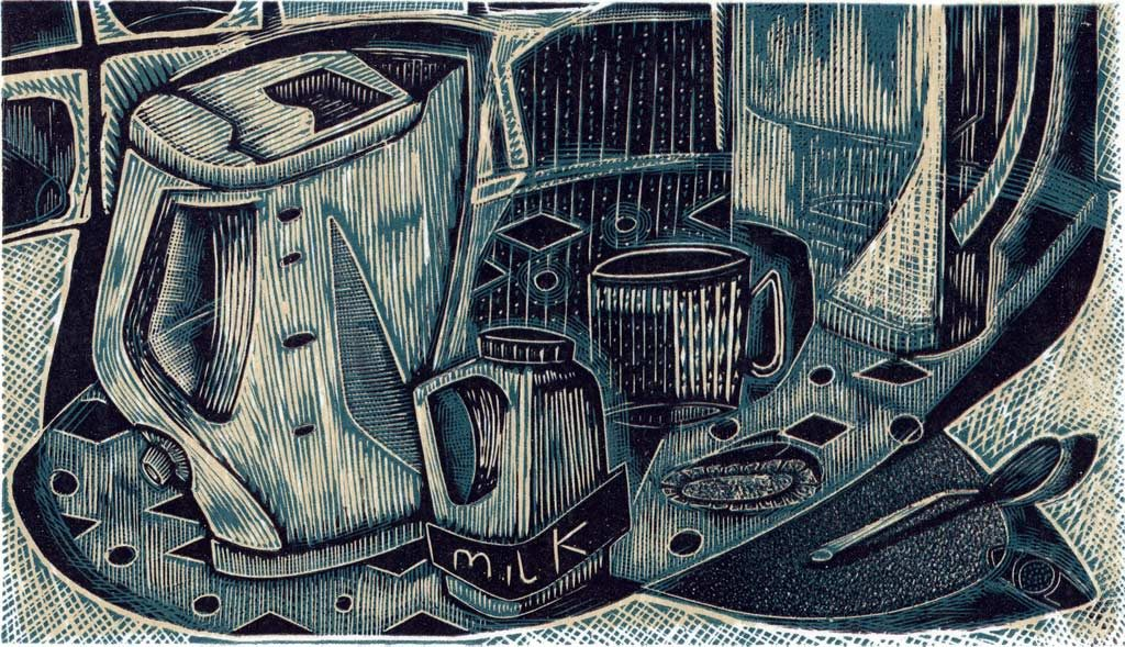 Tea Stuff - wood engraving