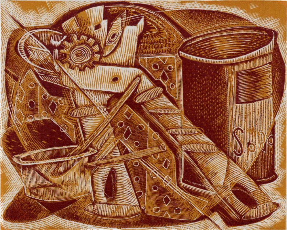 Tinned Spaghetti - wood engraving