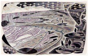 Sunday People - wood engraving