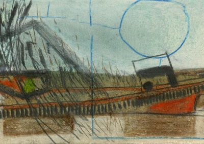 The Broads, Norfolk - composition #01 - mixed media drawing