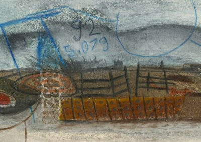The Broads, Norfolk - composition #02 - mixed media drawing