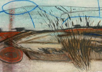 The Broads, Norfolk - composition #05 - mixed media drawing