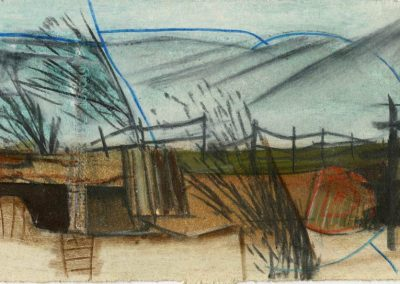 The Broads, Norfolk - composition #06 - mixed media drawing