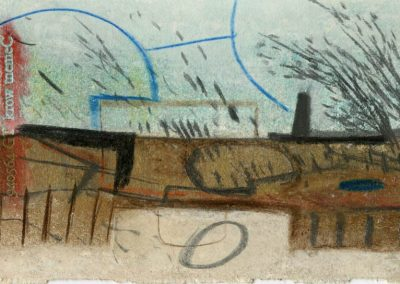 The Broads, Norfolk - composition #08 - mixed media drawing