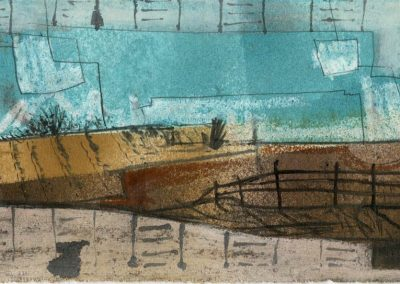 The Broads, Norfolk - composition #14 - mixed media drawing