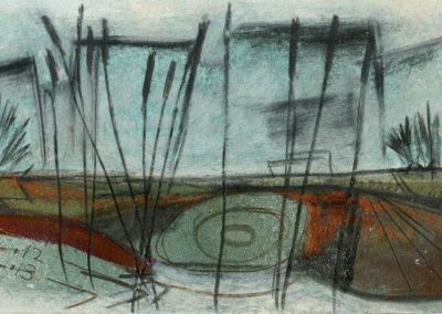The Broads, Norfolk - composition #16 - mixed media drawing