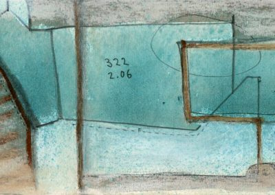 The Broads, Norfolk - composition #20 - mixed media drawing