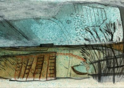 The Broads, Norfolk - composition #21 - mixed media drawing