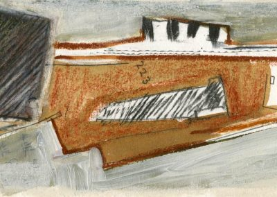 The Broads, Norfolk - composition #22 - mixed media drawing