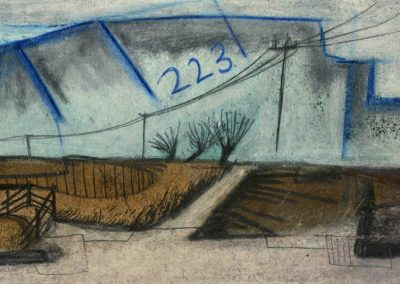 The Broads, Norfolk - composition #24 - mixed media drawing