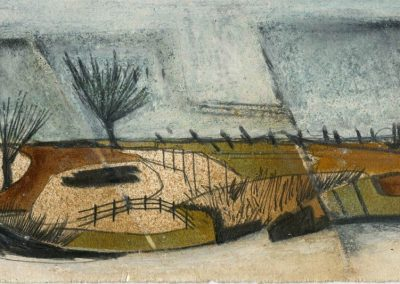 The Broads, Norfolk - composition #29 - mixed media drawing