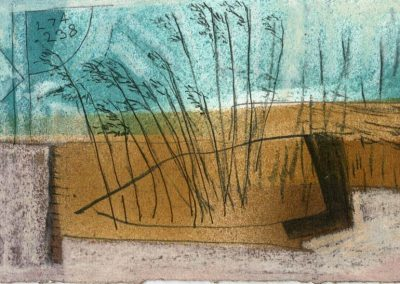 The Broads, Norfolk - composition #30 - mixed media drawing