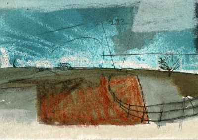 The Broads, Norfolk - composition #31 - mixed media drawing