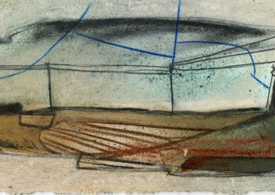 The Broads, Norfolk - composition #32 - mixed media drawing