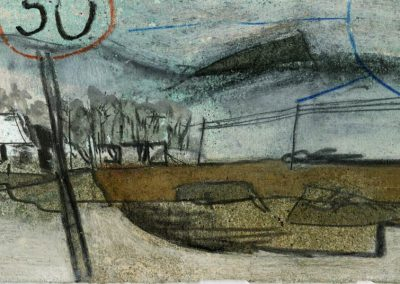 The Broads, Norfolk - composition #35 - mixed media drawing