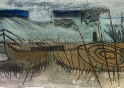 The Broads, Norfolk - composition #36 - mixed media drawing