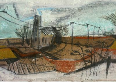 The Broads, Norfolk - composition #37 - mixed media drawing