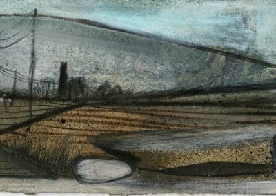 The Broads, Norfolk - composition #38 - mixed media drawing