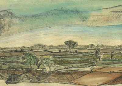 The Broads, Norfolk - walk 1 #04 - mixed media drawing