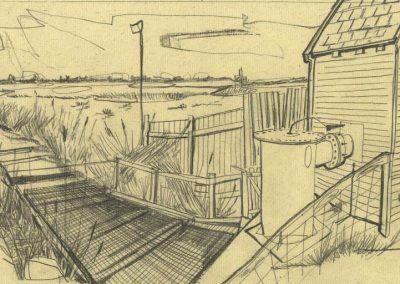 The Broads, Norfolk - walk 1 #05 - mixed media drawing