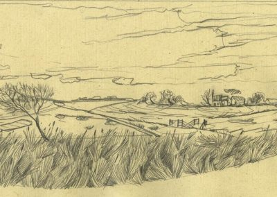 The Broads, Norfolk - walk 1 #08 - mixed media drawing