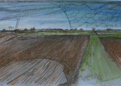 The Broads, Norfolk - walk 1 #21 - mixed media drawing