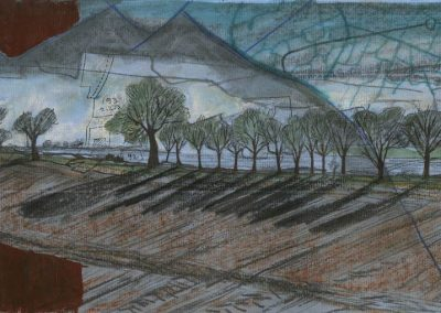 The Broads, Norfolk - walk 1 #22 - mixed media drawing