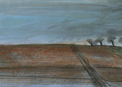 The Broads, Norfolk - walk 1 #23 - mixed media drawing