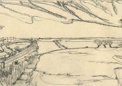 The Broads, Norfolk - walk 1 #29 - mixed media drawing