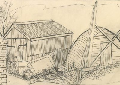 The Broads, Norfolk - walk 1 #31 - mixed media drawing