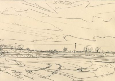 The Broads, Norfolk - walk 1 #33 - mixed media drawing