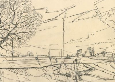 The Broads, Norfolk - walk 1 #34 - mixed media drawing