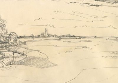 The Broads, Norfolk - walk 1 #45 - mixed media drawing