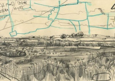 The Broads, Norfolk - walk 1 #57 - mixed media drawing