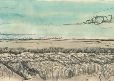 The Broads, Norfolk - walk 1 #65 - mixed media drawing