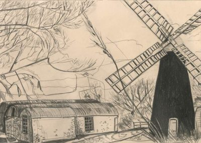 The Broads, Norfolk - walk 1 #73 - mixed media drawing